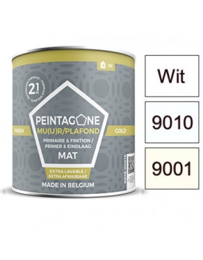 Peintagone Finish Gold White, RAL 9001 or RAL 9010